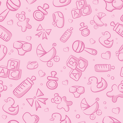 Seamless Pink Baby Background