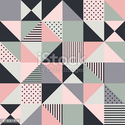 seamless pink geometric pattern