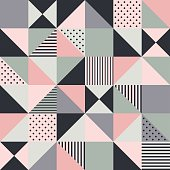 seamless pink geometric pattern