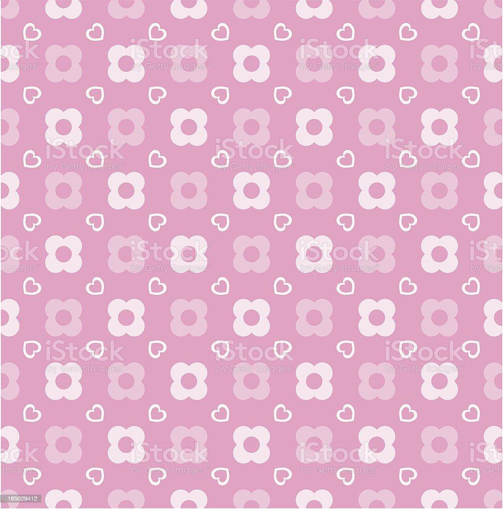 Seamless Pink Jpop Wallpaper ( Vector ) vector art illustration