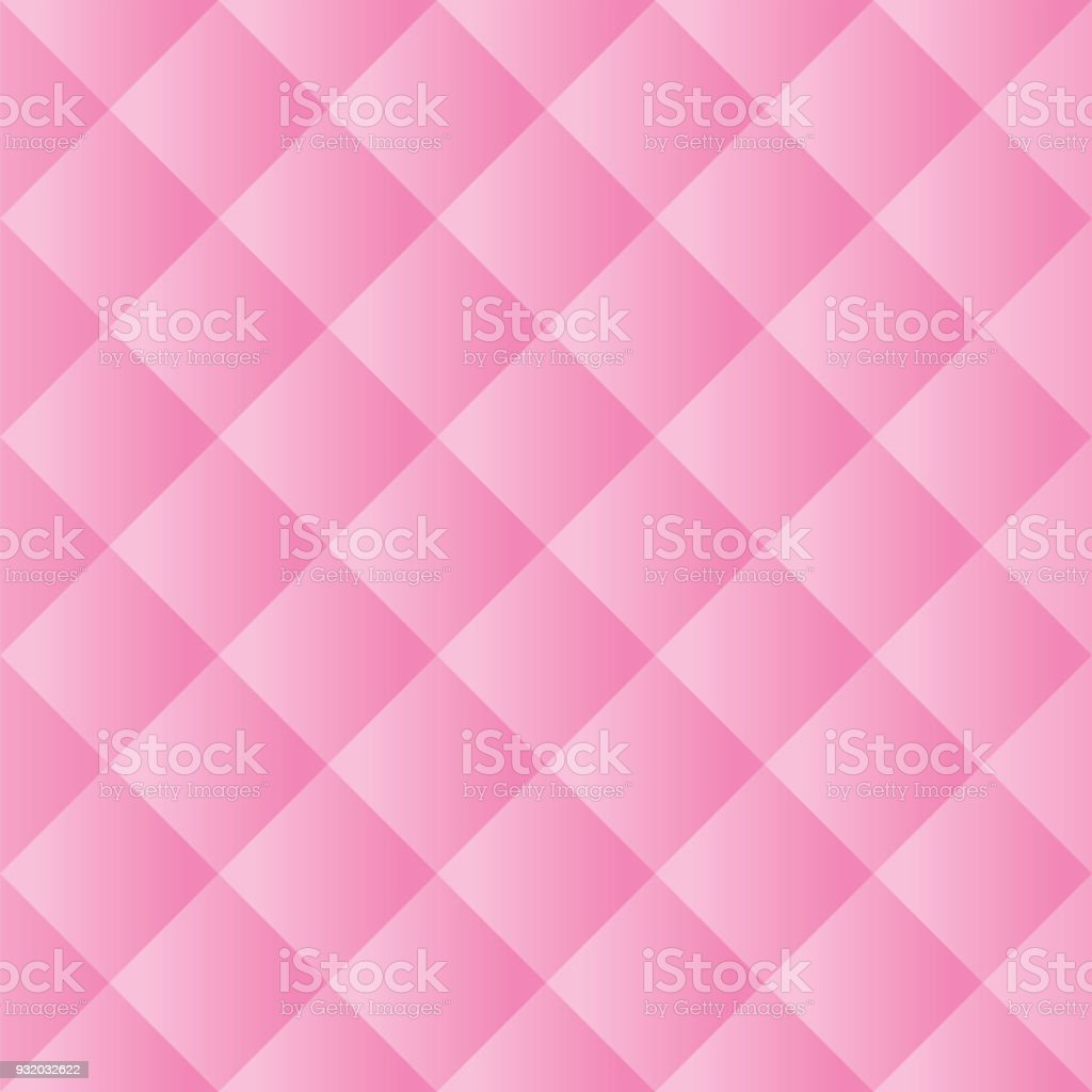 Seamless Pink Padded Background Texture vector art illustration