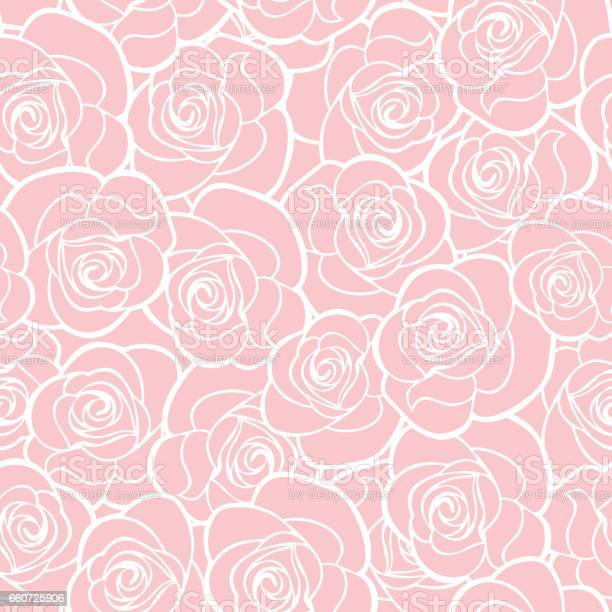 Seamless pink pattern with roses vector illustration vector id660725906?b=1&k=6&m=660725906&s=612x612&h=kpgchpuuvsygqlgsjjycp oxd4osakjxul1kfzjb57o=
