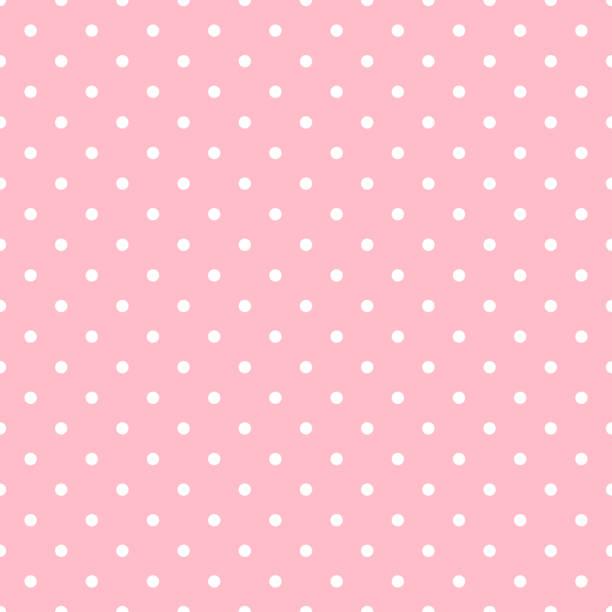 Plano de fundo sem costura rosa polka dot - ilustração de arte em vetor