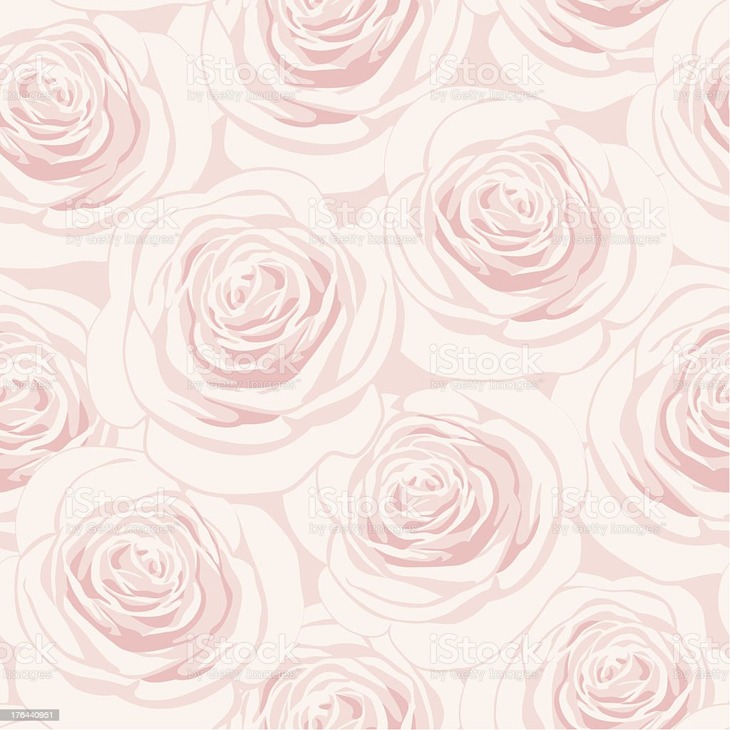 Seamless pink rose illustration background royalty-free stock vector art