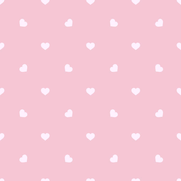 Seamless pink texture with scattered hearts. Valentine's Day backdrop. Vector Illustration. Seamless pink texture with scattered hearts. Valentine's Day backdrop. Vector Illustration. baby girls stock illustrations