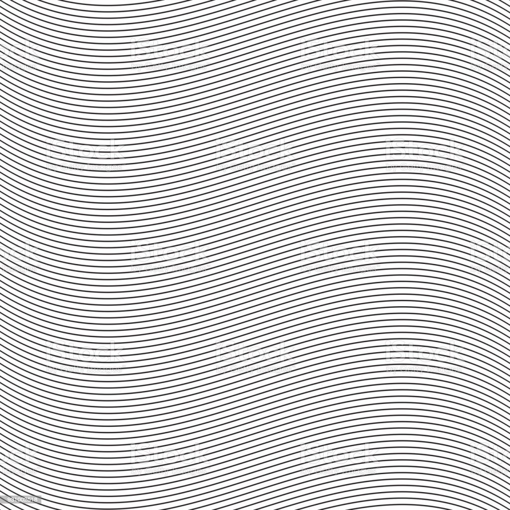 Seamless pinstripe wave pattern for packaging, label or other design applications. - Векторная графика Абстрактный роялти-фри