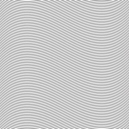 Seamless Pinstripe Wave Pattern For Packaging Label Or Other Design Applications — стоковая векторная графика и другие изображения на тему Абстрактный