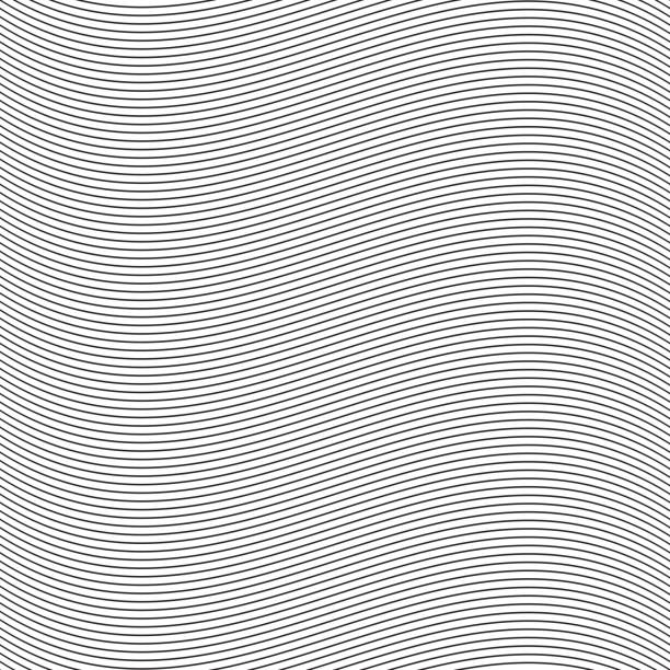 seamless pinstripe wave pattern for packaging, label or other design applications. - штриховой рисунок stock illustrations
