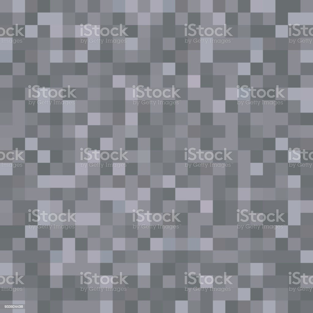. Seamless Pixelated Dark Stone Texture Mapping Background For Various
