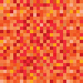 Seamless pixelated lava or fire texture mapping background for various digital applications
