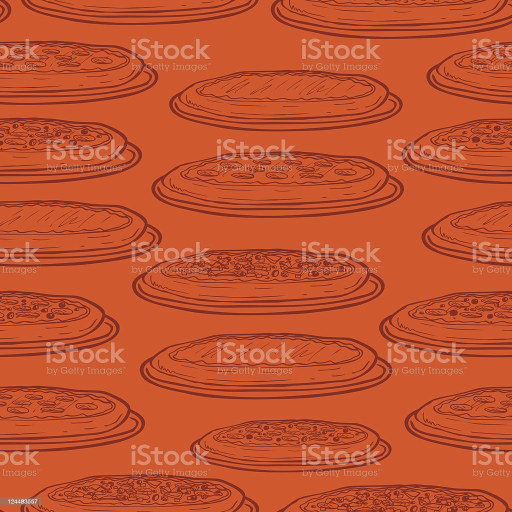 Seamless Pizza Background royalty-free seamless pizza background stock vector art & more images of backgrounds