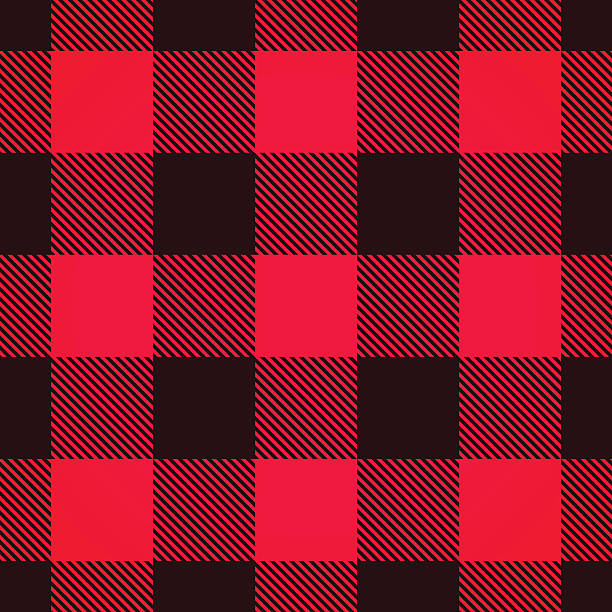 seamless plaid background - flannel backgrounds stock illustrations, clip art, cartoons, & icons