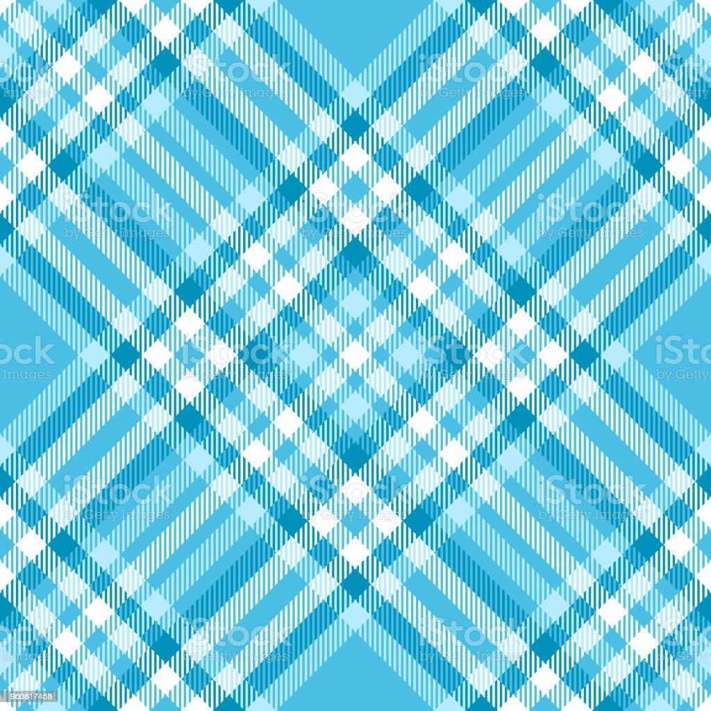 Nahtlose Tartankaromuster In Den Farben Hellblau Und Weiß Stock
