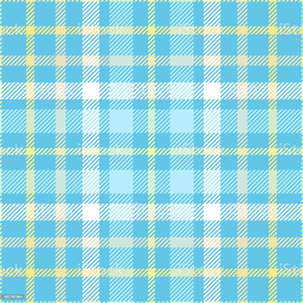 Cuadros comprobar el patrón de tonos huevo de petirrojo azul, amarillo y blanco. - ilustración de arte vectorial
