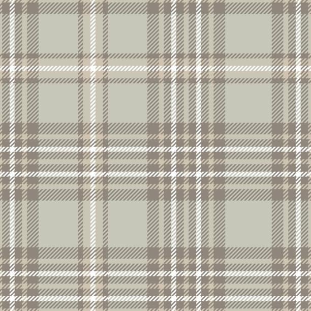 illustrazioni stock, clip art, cartoni animati e icone di tendenza di seamless plaid check pattern in taupe, beige, gray and white. - mascolinità