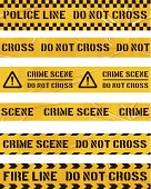 seamless plastic cordon tapes with police messages. Repeating patterns (banners tile horizontally). Layered EPS10 with global colors and transparencies. Individual elements and textures. Hi-res JPG and AICS3 files included. Related images linked below. http://i161.photobucket.com/albums/t234/lolon5/packagingelements_zps0982c456.jpg