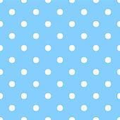 Seamless polka dot on blue background