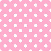 Seamless polka dot on pale pink background