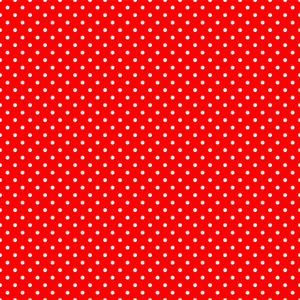 Seamless polka dot on red background Seamless polka dot on red background polka dot stock illustrations