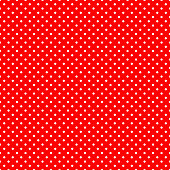 Seamless polka dot on red background