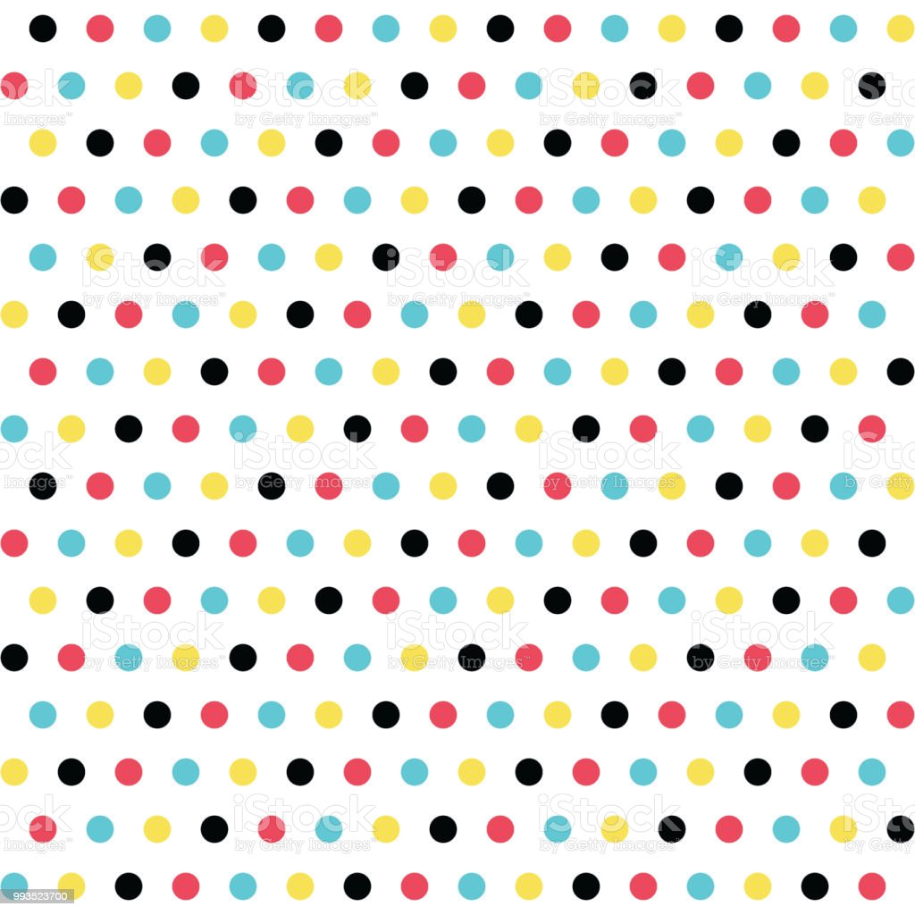 Seamless Polka Dots Pattern Multicolored Circles On A White Background  Texture Vector Stock Illustration - Download Image Now