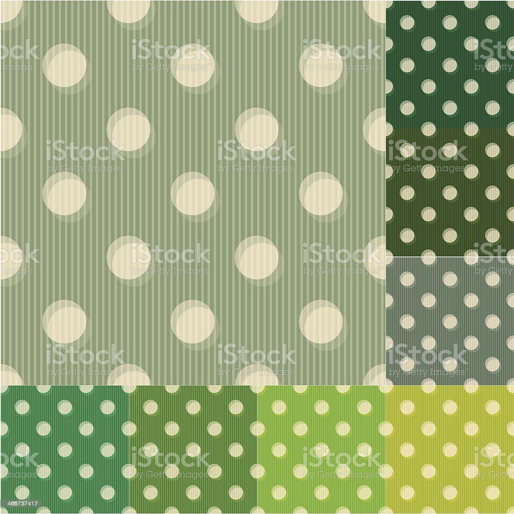 seamless polka dots pattern set royalty-free stock vector art