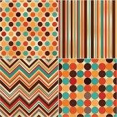 seamless polka, stripes and zig zag pattern
