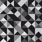 Seamless polygon background pattern - polygonal - black and white wallpaper - vector Illustration
