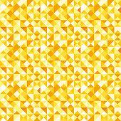 Seamless polygon background pattern - polygonal - gold wallpaper - vector Illustration