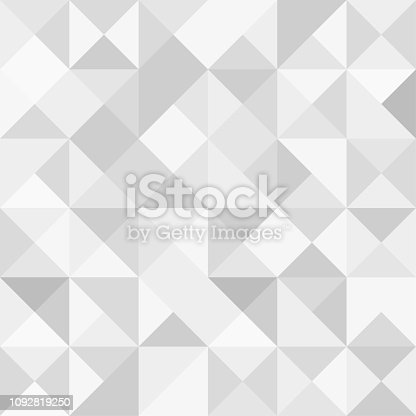 Seamless polygon background pattern - polygonal - gray wallpaper - vector Illustration