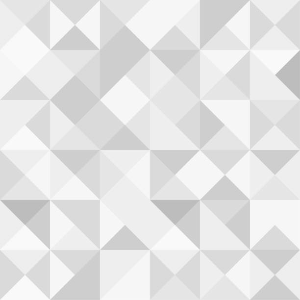 illustrazioni stock, clip art, cartoni animati e icone di tendenza di seamless polygon background pattern - polygonal - gray wallpaper - vector illustration - square