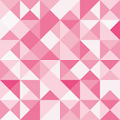 Seamless polygon background pattern - polygonal - red wallpaper - vector Illustration
