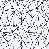 Seamless Polygonal Space pattern with Connecting Dots and Lines. Vector illustration