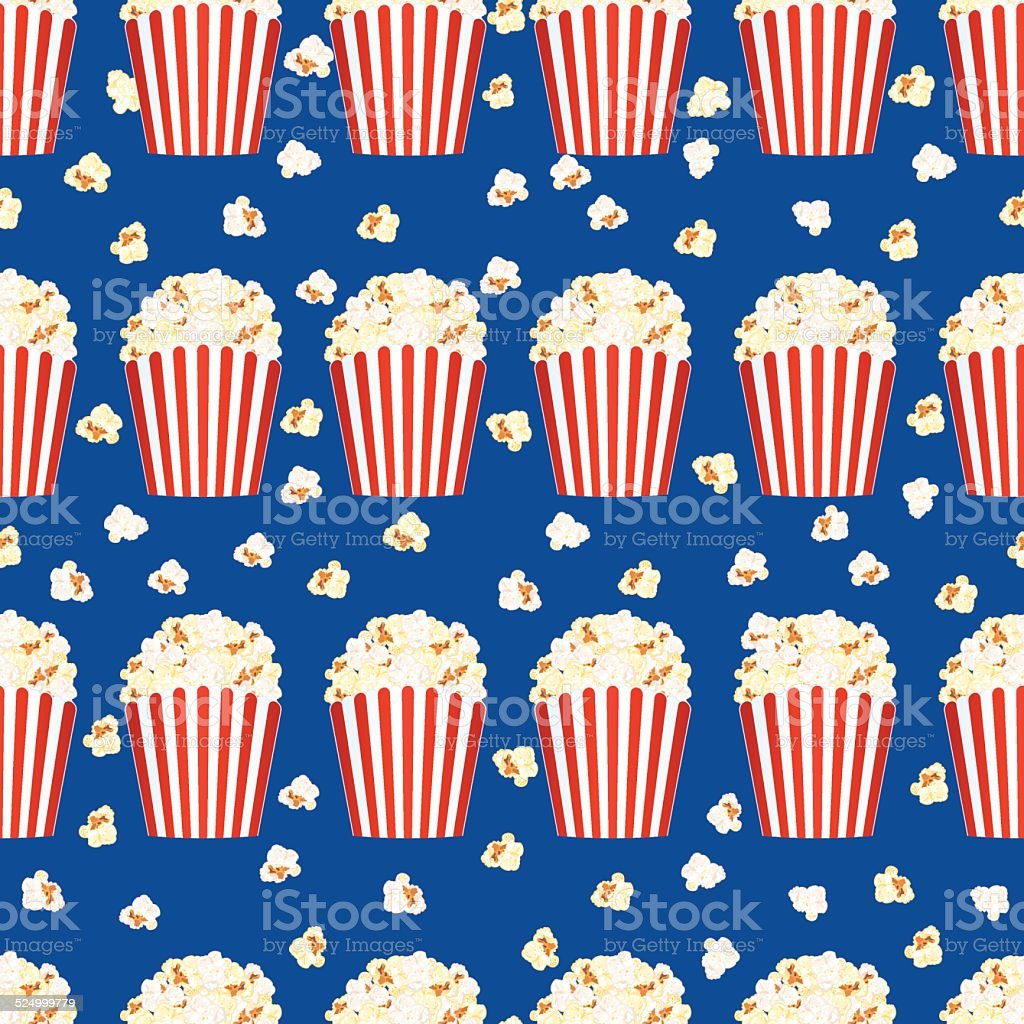 Popcorn Wallpaper: Seamless Popcorn Background Pattern Stock Vector Art