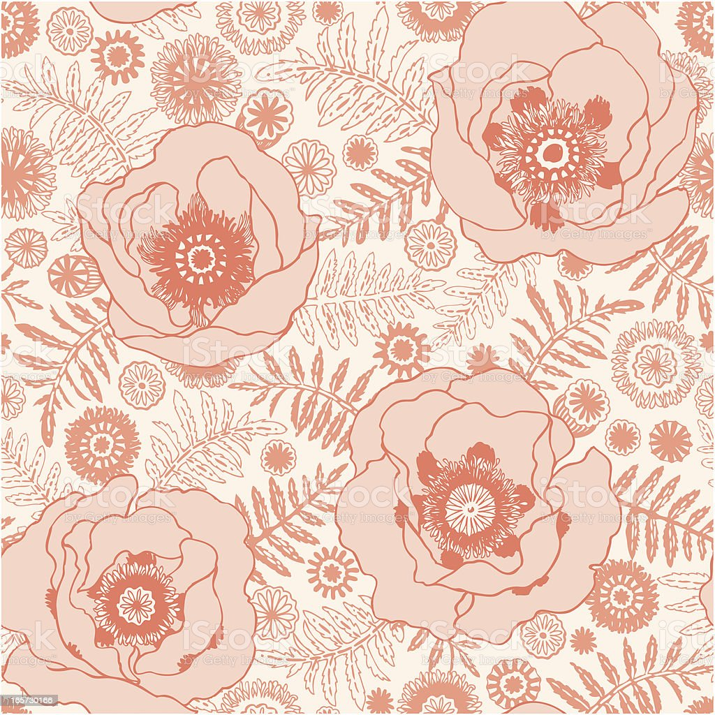 seamless poppy pattern royalty-free stock vector art