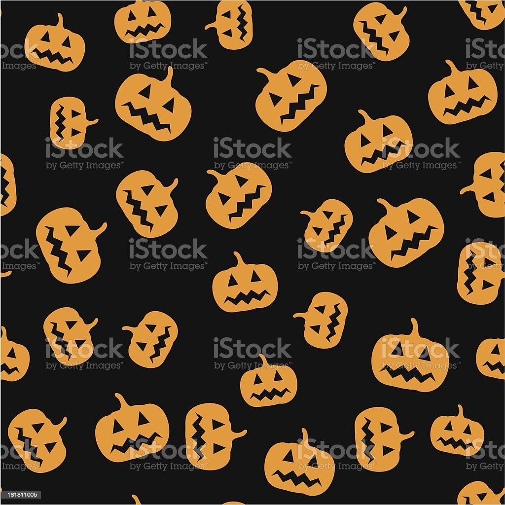 Seamless pumpkin pattern royalty-free stock vector art