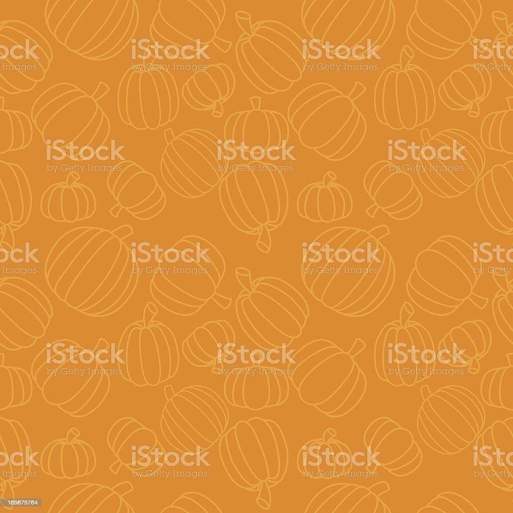 Seamless Pumpkins vector art illustration