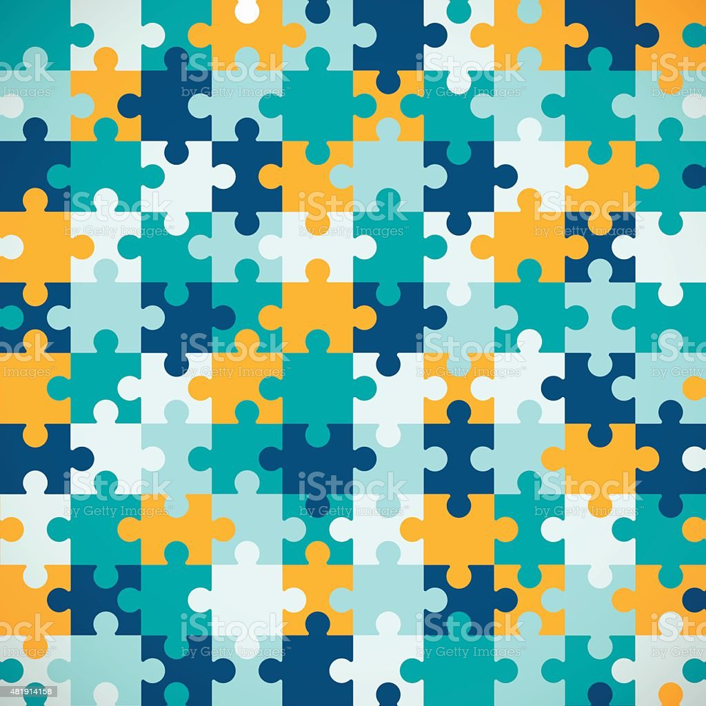 Seamless Puzzle Background vector art illustration