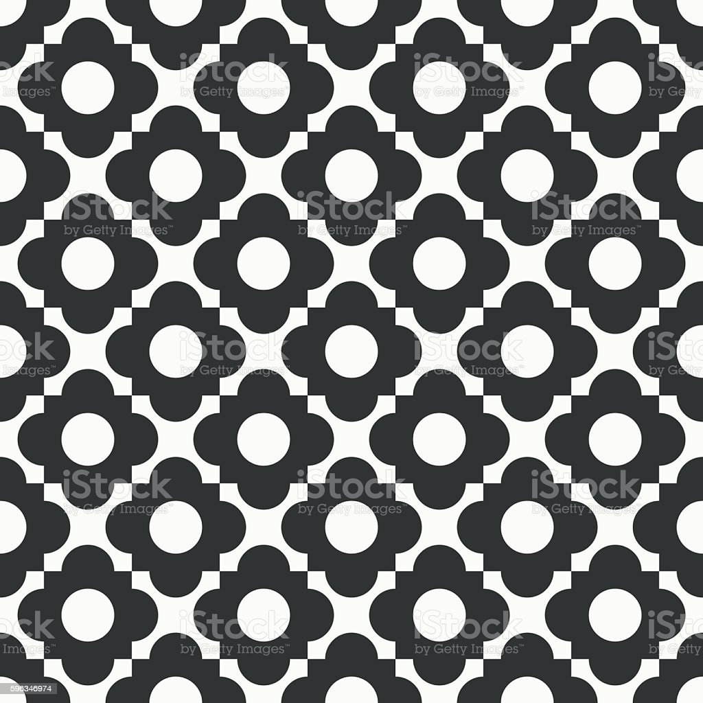 seamless quatrefoil monochrome vector pattern. royalty-free seamless quatrefoil monochrome vector pattern stock vector art & more images of abstract