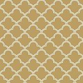 seamless quatrefoil wave pattern.