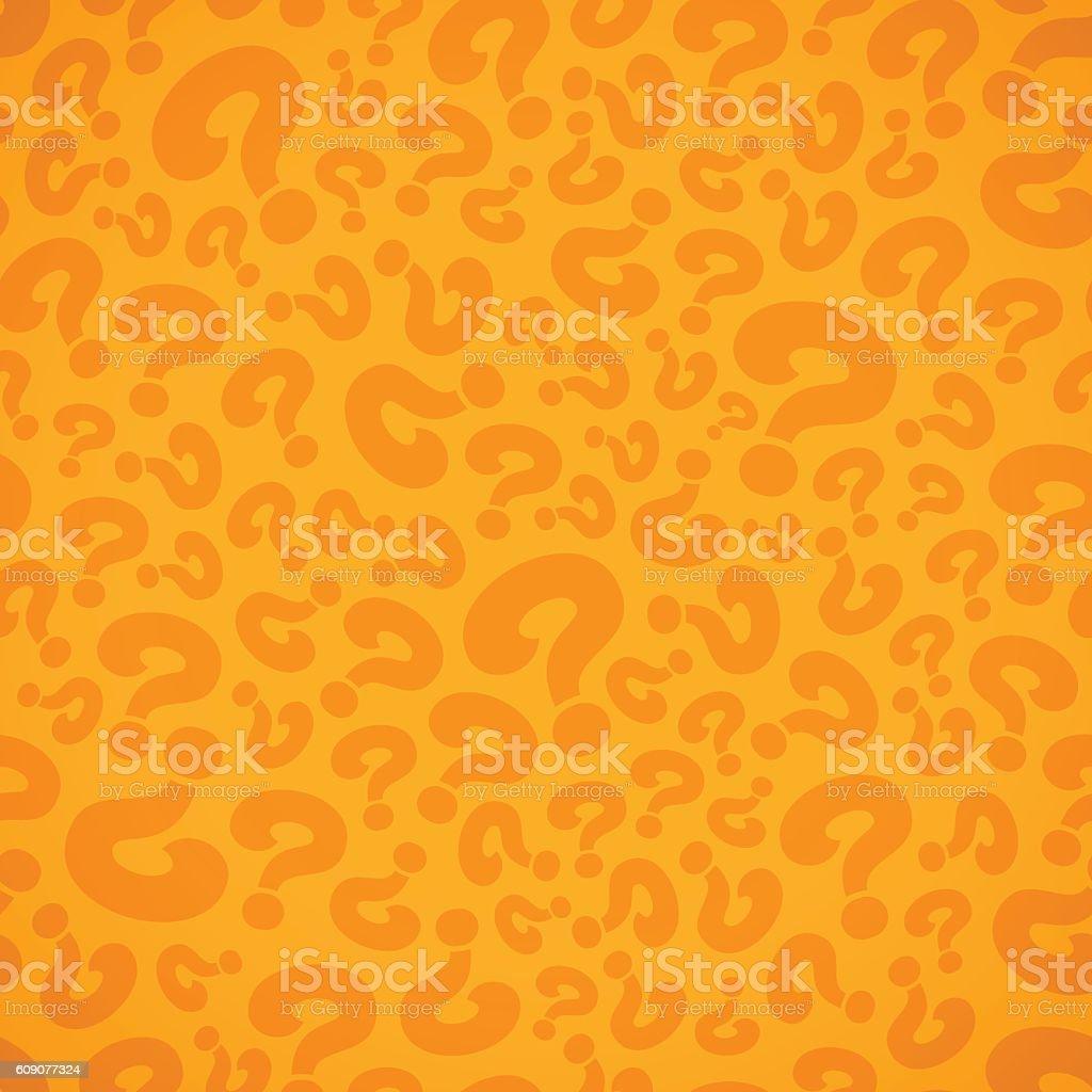 Seamless Question Mark Background vector art illustration
