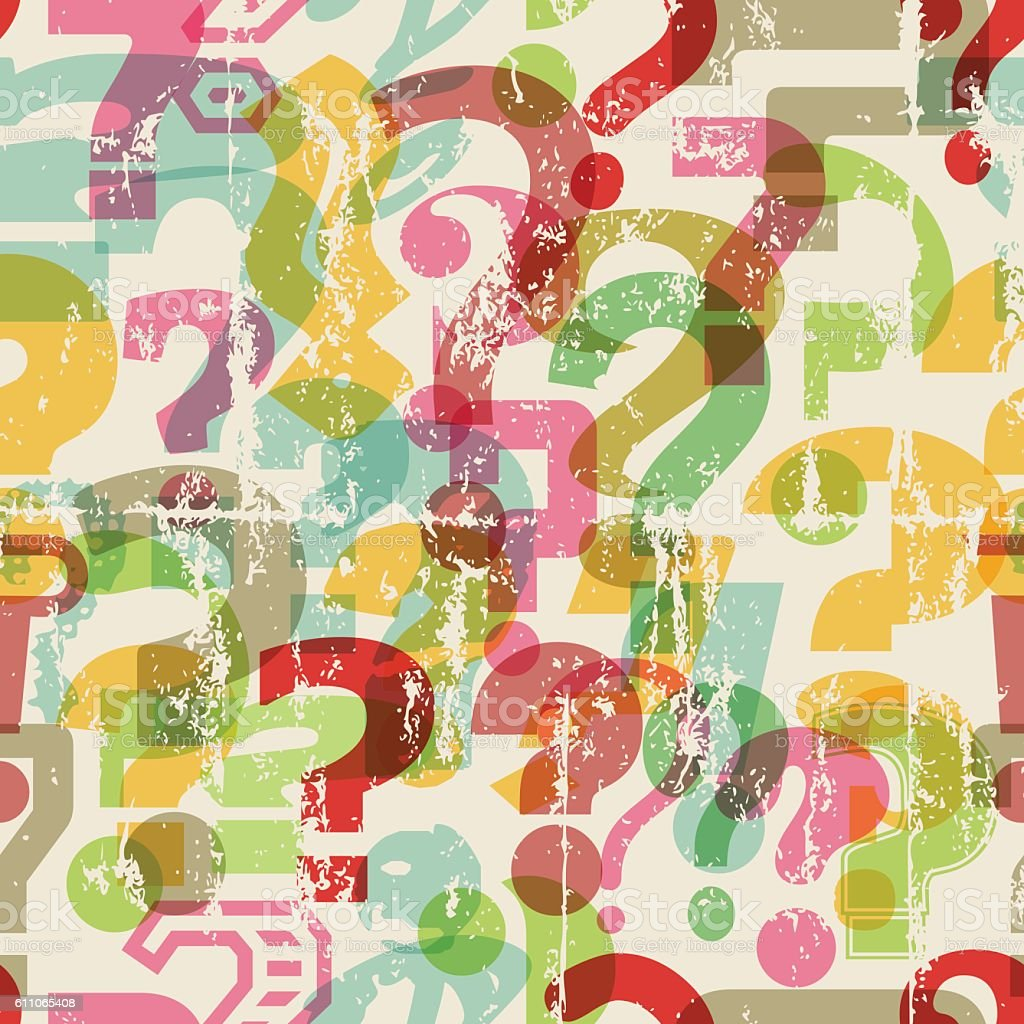 seamless question mark background vector art illustration
