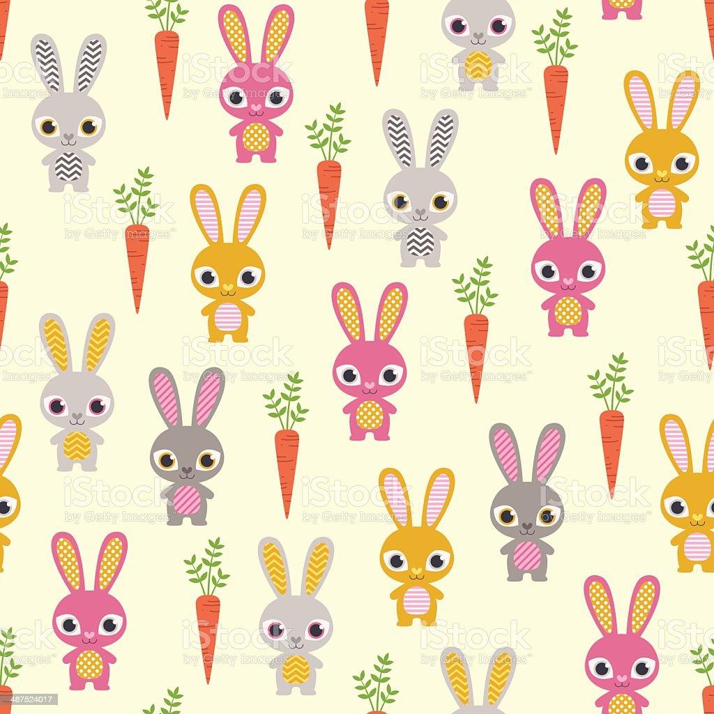 Patrón Sin Costuras Conejos - Arte vectorial de stock y más imágenes ...