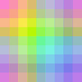 Repeating vector seamless pattern rainbow plaid grid pixel design