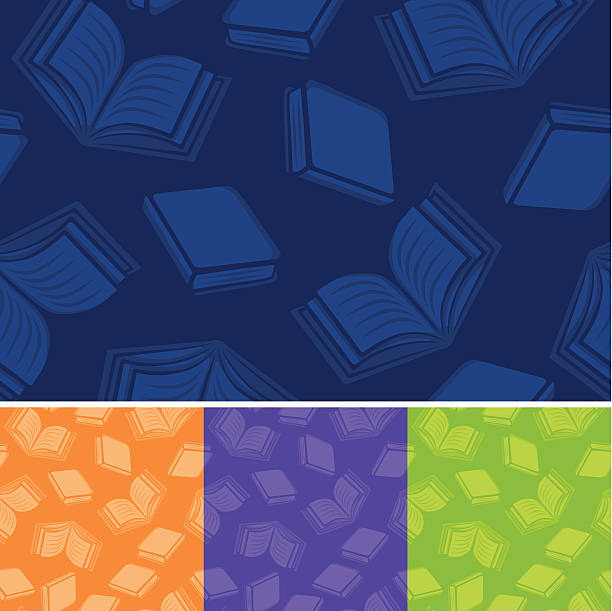 Seamless Reading Background Seamless book and reading background. Repeats left to right and top to bottom. book patterns stock illustrations