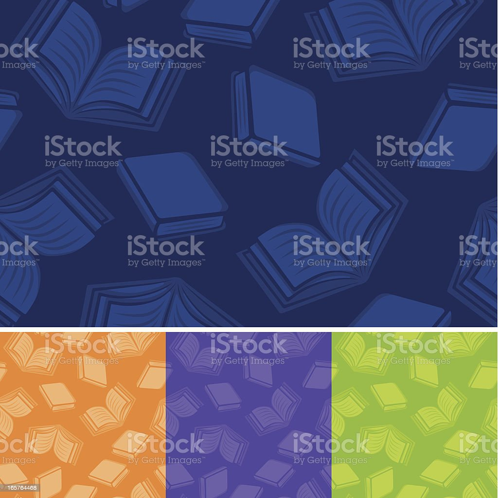 Seamless Reading Background vector art illustration