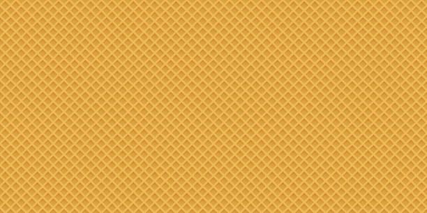 概念設計のためのシームレスな現実的なウェーハ パターン。甘い seaml - ワッフル点のイラスト素材/クリップアート素材/マンガ素材/アイコン素材