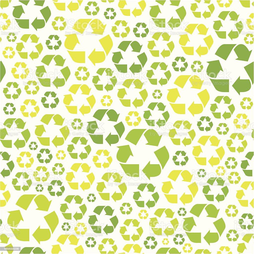 Seamless recycling symbol pattern Seamless recycling symbol pattern. Backgrounds stock vector