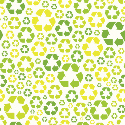 Seamless Recycling Symbol Pattern Stock Illustration - Download Image Now