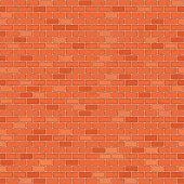 Seamless red brick wall.